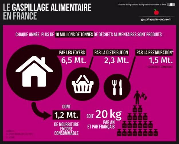 Gaspillage alimentaire - le gaspillage alimentaire en France - La vie des entreprises