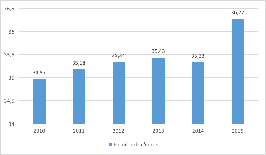 entreprise carrefour - évolution du CA en France - La vie des entreprises