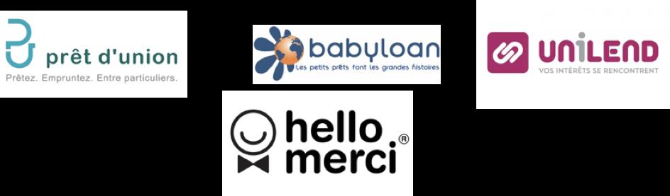 Crowdfunding - logos des entreprises de prêt - La vie des entreprises