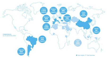 Entreprise Carrefour - présence dans le monde - La vie des entreprises