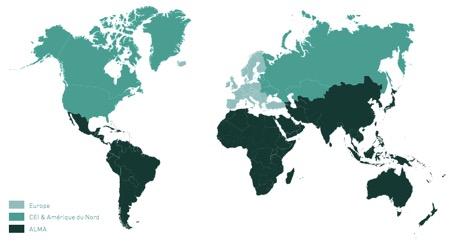Groupe Danone - présence dans le monde - la vie des entreprises