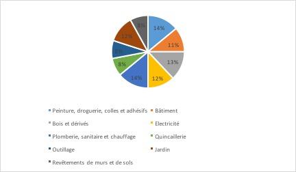 La structure des ventes des grandes surfaces de bricolage- La distribution du marché du bricolage - La vie des entreprises