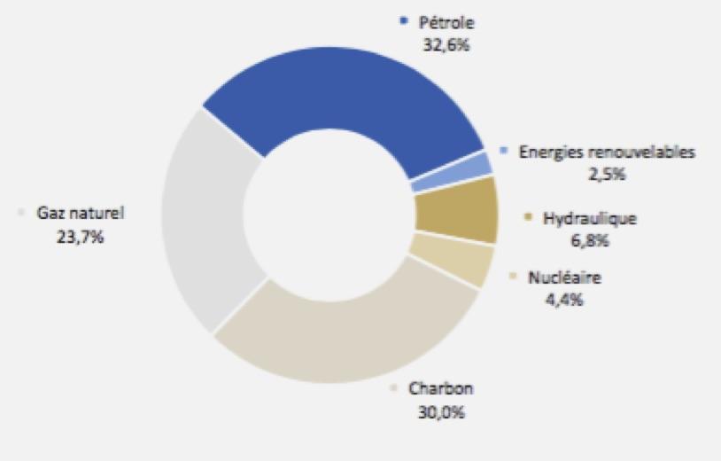 Répartition de la consommation d'énergie - Groupe Total - La vie des entreprises