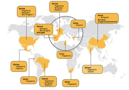 Implantations industrielles - BIC - La vie des entreprises